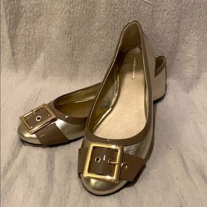 Banana Republic Gold Ballet Flats